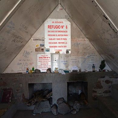 Dentro al rifugio